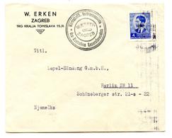 W. Erken, Zagreb Company Letter Cover Posted 1940 To Berlin B200110 - Croatie