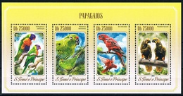 Bloc Sheet Oiseaux Perroquets Birds Parrots Neuf  MNH ** S Tome & Principe 2014 - Parrots