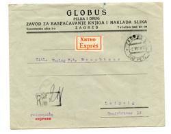 Globus, Pelka I Drug, Zagreb Company Letter Cover Posted Registerd 1928 To Leipzig B200110 - Croatie
