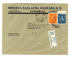 Minerva Nakladna Knjižara, Zagreb Company Letter Cover Posted Registerd 1933 To Leipzig B200110 - Croatie