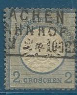 Allemagne   -  Yvert N° 17 Oblitéré   ( 2/10/1872 / Achen Bahnof - Ay9712 - Oblitérés