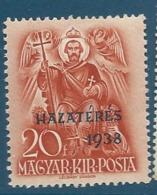 Autriche   -  Yvert N° 504 *   - Ay9725 - Hongrie