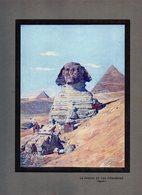 Dessin -  EGYPTE -  LE  SPHINX  ET  LES  PYRAMIDES - Unclassified