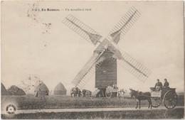 EN BEAUCE - Un Moulin à Vent. Carte Envoyée De Chartres. Attelages Anes Et Chevaux. - Francia