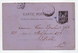 - CARTE POSTALE ÉPICERIE DU BON MARCHÉ, SÉRÉ-FOURNIER, DESVRES (Pas-de-Calais) Pour LILLE (Nord) 11.6.1886 - - Standard- Und TSC-AK (vor 1995)