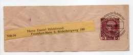 - BANDE JOURNAUX WIEN (Autriche) Pour FRANKFURT (Allemagne) 15.1.1910 - - Stamped Stationery