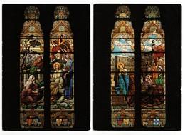 NANCY (54) - Basilique N.D. De Lourdes - Vitraux De J. Benoit 1927 (2 Cartes) - Nancy