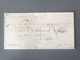Lettre De JERSEY Pour La Villette 1855 - Mention STAMPS INSUFFICIENT - (B2811) - 1849-1876: Classic Period