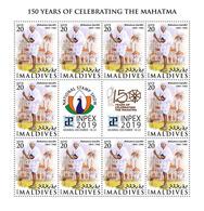 MALDIVES 2019 - Mahatma Gandhi, M/S. Official Issue [MLD190915c] - Mahatma Gandhi