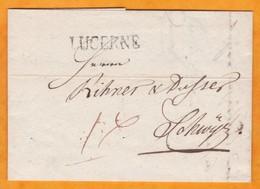 1806 - Marque Postale LUCERNE /  LUZERN Sur  Lettre Avec Correspondance  Vers Schwyz / Schwytz - Suisse