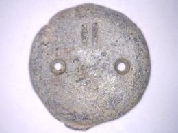 BOUTON ANCIEN N° II EN PLOMB Pour Lester Vêtement MILITAIRE Diamètre 22 Mm - Boutons