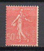 - FRANCE N° 199f Neuf ** MNH - 50 C. Rouge Semeuse Lignée - TYPE III - Cote 35 EUR - - 1903-60 Semeuse A Righe
