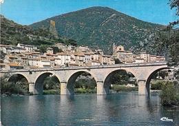 34 - Roquebrun - Vue Générale Sur Le Village, La Tour Et Le Pont Sur L'Orb - France