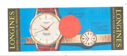 """Marque-pages Publicitaire - Montre Suisse De Précision  """" LONGINES """"   (b260/5) - Marque-Pages"""