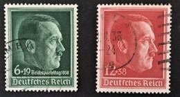 1939  49. Geburtstag Hitlers Mi. 664, 10,Reichsparteitag Mi. 672 - Germania