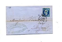 Lettre Cachet Losange Paris   Sur Napoleon + ??? - Marcophilie (Lettres)