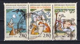 France 1995 : Timbres Yvert & Tellier N° 2961 - 2962 Et 2963 Se Tenant Avec Oblit. Rondes. - Usados