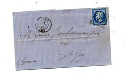 Lettre Cachet Losange Brest   Sur Napoleon + Sainte Foy - Marcophilie (Lettres)