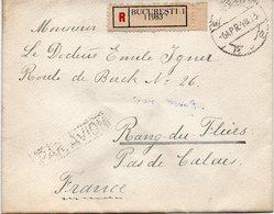 """ROUMANIE : PA . REC . """" BUCAREST """" . POUR LA FRANCE . 1943 . - 2. Weltkrieg (Briefe)"""