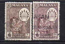 Y1145 - NEGRI SEMBILAN MALAYSIA  1957,   Yvert N. 66  Usati : Le Due Nuance  (2380A) - Negri Sembilan