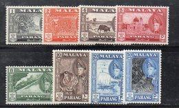 Y2219 - PAHANG MALAYSIA  1957,   SERIETTA Yvert N. 62/69  *  Linguella  (2380A) - Pahang