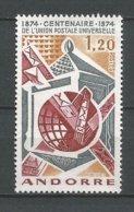 ANDORRE ANDORRA ANNEE 1974 N° 242 NEUF** NMH - Unused Stamps