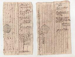 2 Petits Papiers 1761 Et 1762 - Manuscripts