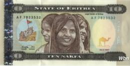 Erythrée 10 Nakfa (P3) 1997 (Pref: AF) -UNC- - Erythrée