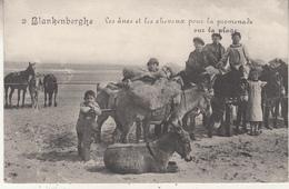 Blankenberge - De Ezels En De Paarden Voor De Wandling Op Het Strand - Uitg. Legia 12 - Blankenberge