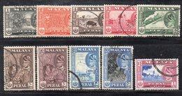 Y2243 - PERAK MALAYSIA  1957 , Ordinaria Dieci Valori Diversi Usati  (2380A) - Perak