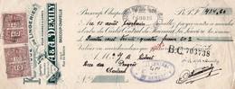 FABRIQUE DE LINGERIES - A & A. DEMILY - BASCOUP-CHAPELLE - 2 TIMBRES FISCAUX DE 40 ET 10 C - 1928 - Lettres De Change