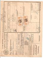 Spoorweg Adreskaart Culemborg 1939 Paartje 35 Cent Geel - Railway