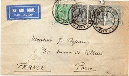 """KENYA : LETTRE . PA . DE """" KAKAMEGA """" . VIA KISUMU . POUR LA FRANCE . 1933 . - Kenya & Uganda"""