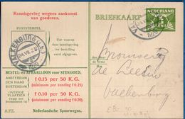 Netherlands 1929 Nederlandse Spoorwegen Kennisgeving Kaart Lebeau 3 C. Lokaal Valkenburg-2, 24.VII.1929 - 2006.1308 - 1891-1948 (Wilhelmine)