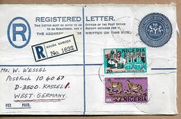 NIGERIA Registered COVER Sent To Kassel 2 Stamps COVER USED - Nigeria (1961-...)