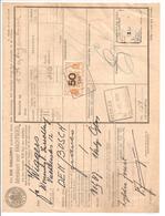 Spoorweg Adreskaart Heerlen1939 50 Cent Geel - Railway