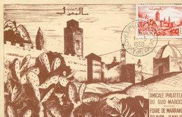 "Maroc; FDC 1950,carte Maximum "" Foire De Marrakech ""Morocco,Marruecos - Cartas"