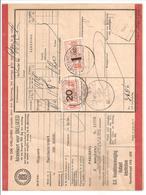 Spoorweg Adreskaart Amsterdam 1938 20 Cent + 1Gld Rood - Railway