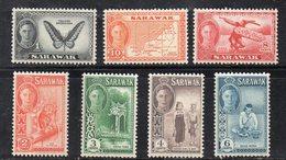 Y2251 - SARAWAK 1950 , Sette Valori Diversi  * Linguella  (2380A) - Sarawak (...-1963)