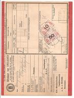 Spoorweg Adreskaart Deventer 1936 10 Cent + 50 Cent Rood - Railway