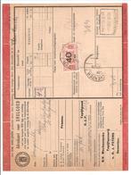 Spoorweg Adreskaart Deventer 1936 40 Cent  Rood - Railway