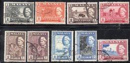Y2253 - SELANGOR MALAYSIA 1957 , Nove Valori Diversi  Usatia  (2380A) - Selangor