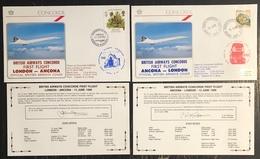 Premier Vol - Concorde - British Airways - Ancona - London - 1986 - Concorde