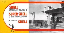 Ancien Buvard Carburant Station Shell Huiles - C