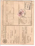 Spoorweg Adreskaart Eindhoven 1940 50 Cent  Rood - Railway