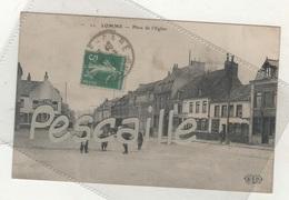 59 NORD - CP ANIMEE LOMME - PLACE DE L'EGLISE - ELD N° 11 - CIRCULEE EN 1912 - Lomme