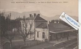 MONTMELIAN: La Gare Et Mont Granier,animée. édit Blanc. - Montmelian