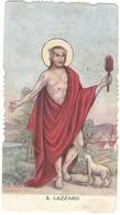 Lotto N. 3 Santini Fustellati San Lazzaro Con Orazione (313-315) - Images Religieuses