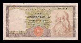 Italia Italy 50000 Lire Leonardo Da Vinci 1974 Pick 99c MBC VF - [ 2] 1946-… : República