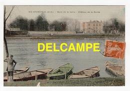 DF / 91 ESSONNE / RIS-ORANGIS / BORD DE LA SEINE  -  CHÂTEAU DE LA BORDE / 1910 ? / CARTE TOILÉE - Ris Orangis